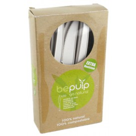 Cuchillo Biodegradable PLA Blanco 160mm (500 Uds)