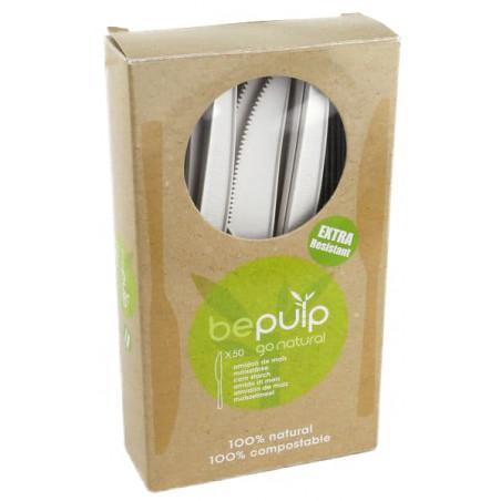 Cuchillo Biodegradable CPLA Blanco 160mm en Caja (500 Uds)