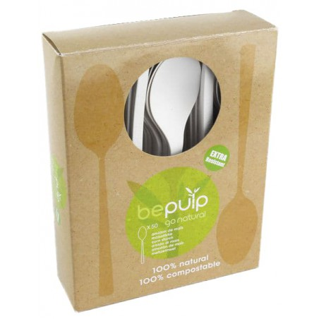 Cuchara Biodegradable PLA Blanco 155mm (50 Uds)