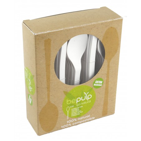 Cuchara Biodegradable PLA Blanco 155mm (500 Uds)