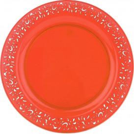 "Plato Plastico Redondo ""Mandala"" Naranja 23cm (88 Uds)"