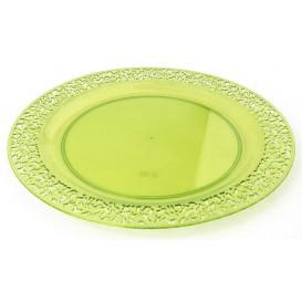 "Plato Plastico Redondo ""Mandala"" Verde 19cm (88 Uds)"