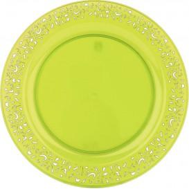 "Plato Plastico Redondo ""Mandala"" Verde 23cm (4 Uds)"