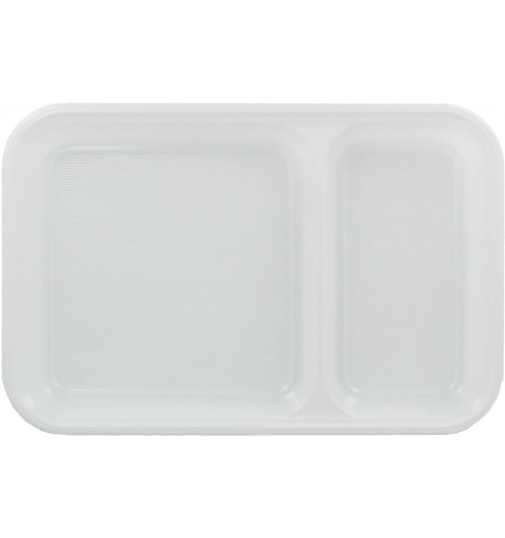 Bandeja de Plastico PS Blanca 2C 270x180mm (300 uds)