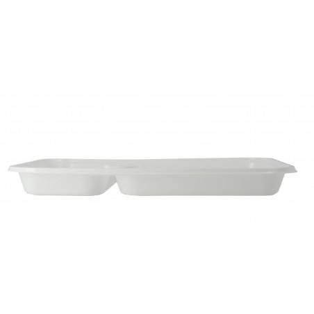 Bandeja de Plastico PS Blanca 2C 270x180mm (50 Uds)
