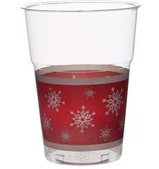"Vaso ""Diamant"" PS Cristal Copo de Nieve 200ml (10 Uds)"