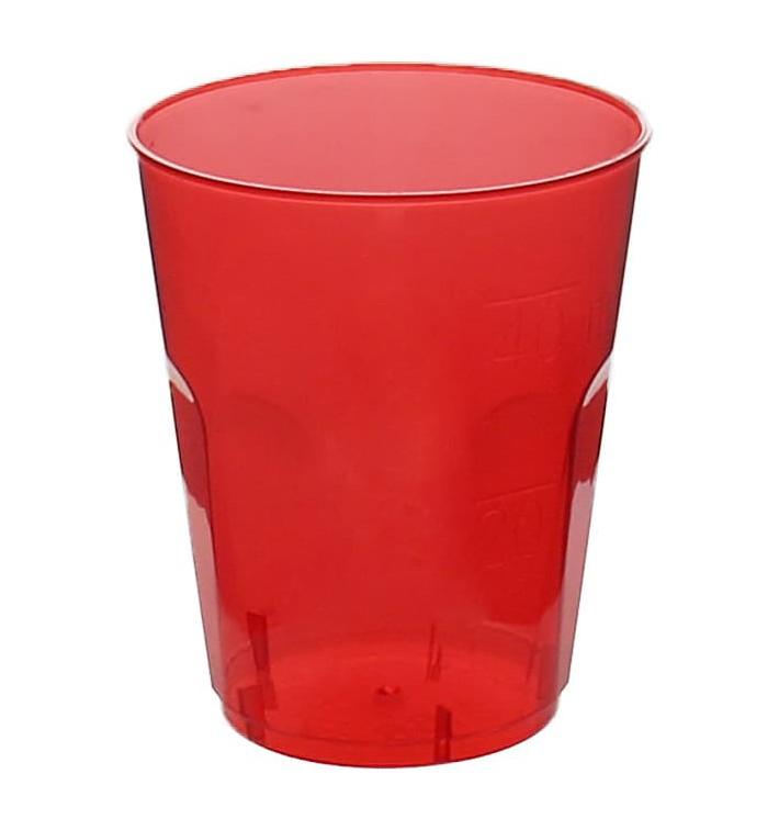 """Vaso Plastico Chupito """"Diamant"""" PS Cristal Rojo 50ml (600 Uds)"""