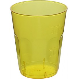 "Vaso Plastico ""Diamant"" PS Cristal Amarillo 50ml (20 Uds)"