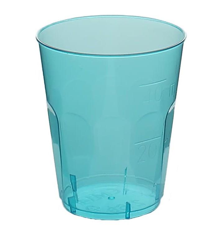 """Vaso Plastico Chupito """"Diamant"""" PS Cristal Azul 50ml (600 Uds)"""