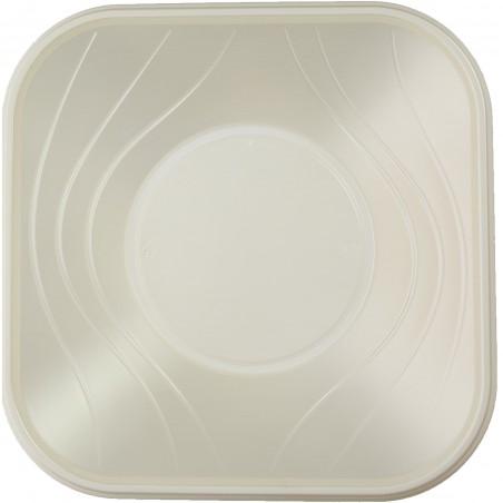 "Bol Plastico PP Cuadrado ""X-Table"" Perla 18x18cm (120 Uds)"