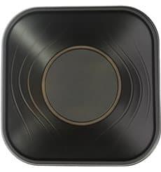 "Bol Plastico PP Cuadrado ""X-Table"" Negro 18x18cm (8 Uds)"