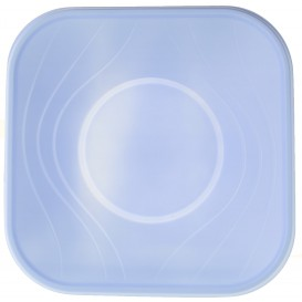 "Bol de Plastico PP ""X-Table"" Cuadrado Violeta 180x180mm (8 Uds)"