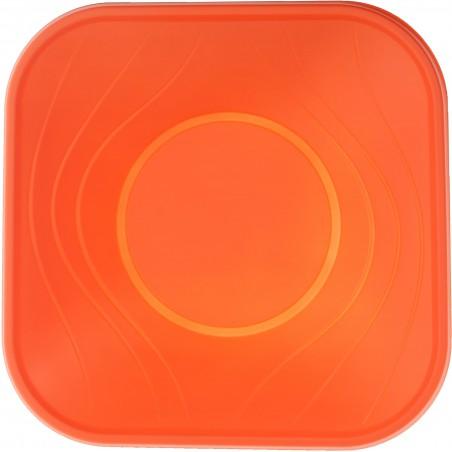 "Bol Plastico PP Cuadrado ""X-Table"" Naranja 18x18cm (120 Uds)"