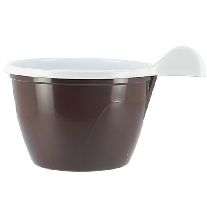 Taza de Plastico PS Chocolate 100 ml (20 Unidades)