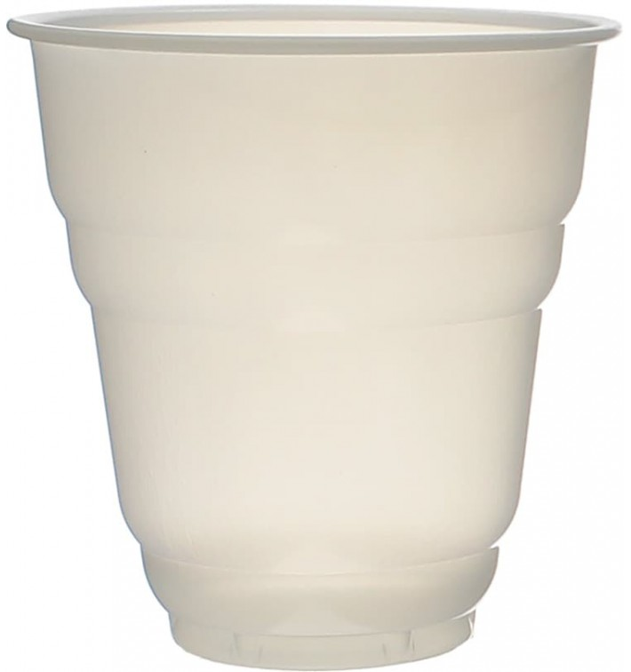Vaso Plastico Vending Design Blanco Satinado 166ml Ø7,0cm (100 Uds)