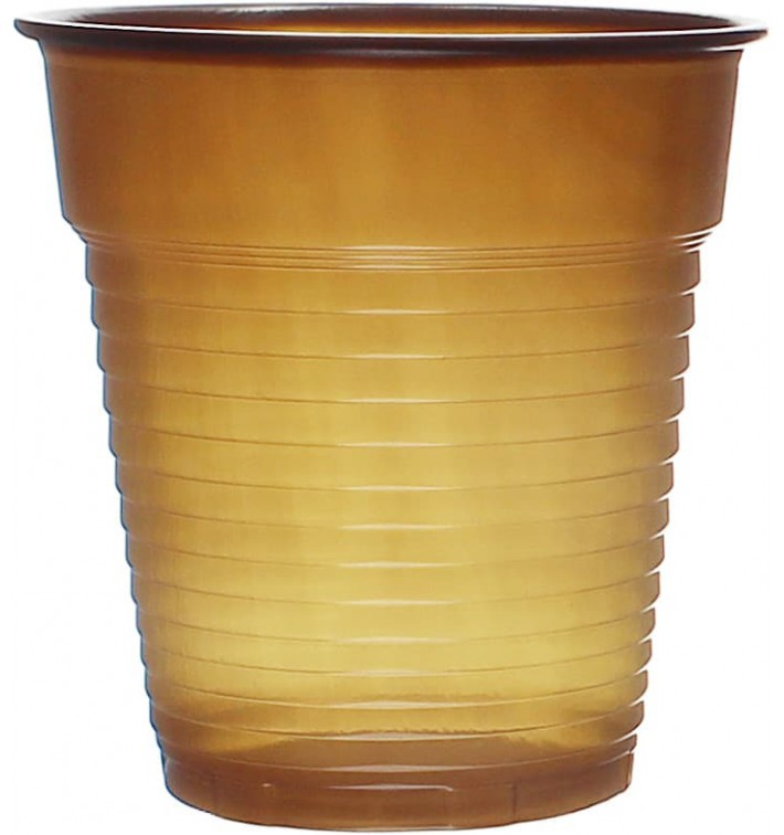 Vaso de Plastico PS Vending Marrón 166ml (3000 Uds)