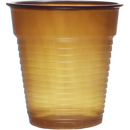 Vaso de Plastico PS Vending Marrón 166ml Ø7,0cm (3000 Uds)