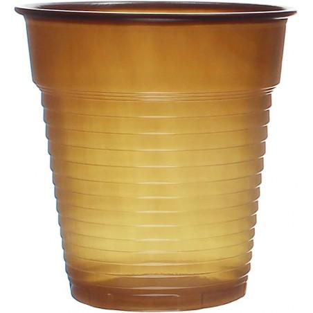 Vaso de Plastico PS Vending Marrón 166ml (100 Uds)