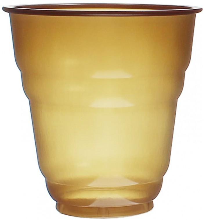 Vaso de Plastico PS Vending Design Marrón 166ml (3000 Uds)
