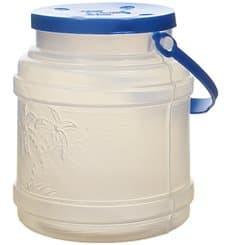 Garrafa Transp. Translúcida con Asa y Tapa 500 ml (10 Uds)