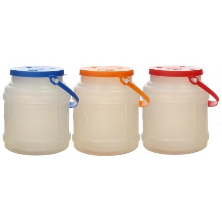 Garrafa Translúcida con Asa y Tapa 500 ml (10 Uds)