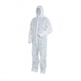 Mono TST PP Capucha y Cierre Velcro Talla XL Blanco (1 Ud)