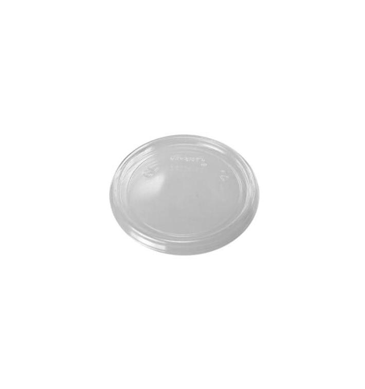 Tapa Plana de Plastico Transparente Ø7,4cm (100 Uds)