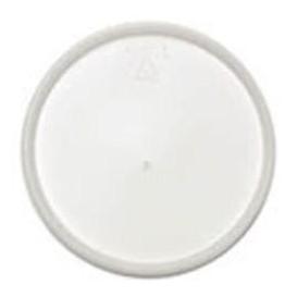 Tapa de Plastico PS Trans. Plana para Foam Ø12,7cm (100 Uds)