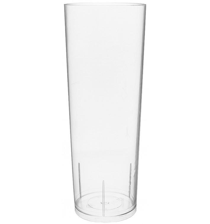 Vaso Tubo de Plastico Cristal PS 300 ml (500 Uds)