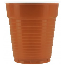 Vaso de Plastico PS Vending Marron 166ml Ø7,0cm (3000 Uds)