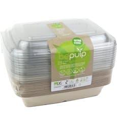 Kit Envases Caña de Azúcar+tapa 230x160x60mm (6 Kits)