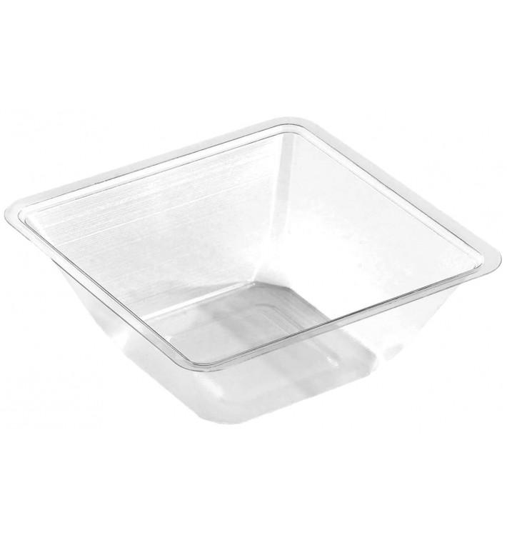 Bol mini de Plástico PET Termosellable 175ml 90x90x40mm (50 Uds)