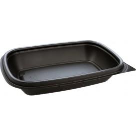 Envase Plastico PP Negro 375ml 20x13x4cm (50 Uds)