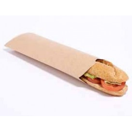 Envase para Bocadillo Kraft con Abre Fácil (25 Unidades)