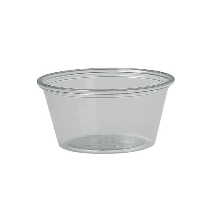 Tarrina para Salsas rPET Cristal 2Oz/60ml Ø6,6cm (250 Uds)