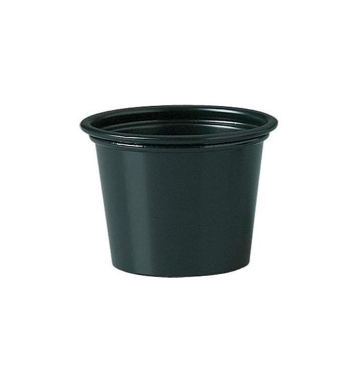 Tarrina para Salsas PP Negro 30ml Ø4,8cm (250 Uds)