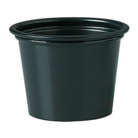 Tarrina de Plastico PP Salsas Negro 30ml Ø48mm (250 Uds)