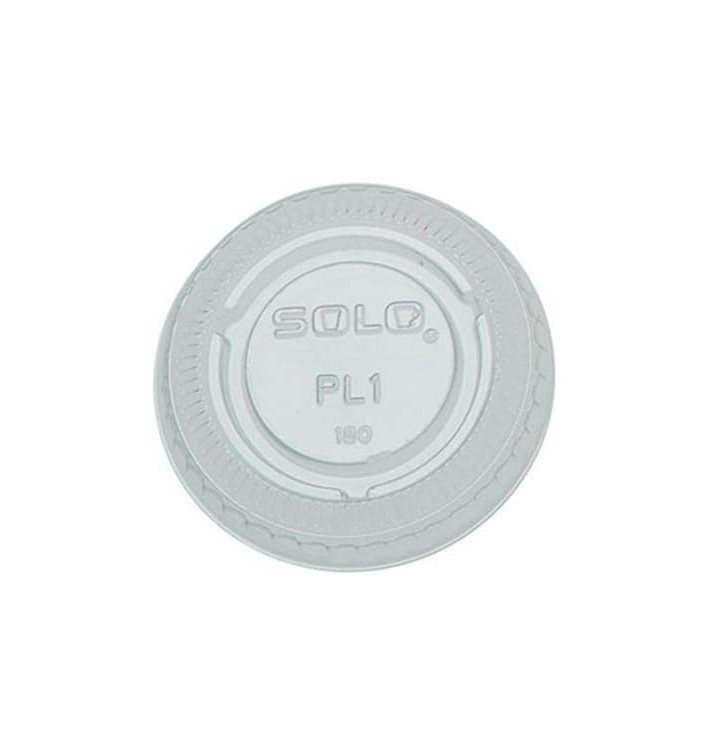 Tapa Plana Cerrada PET Cristal Ø4,8cm (100 Uds)