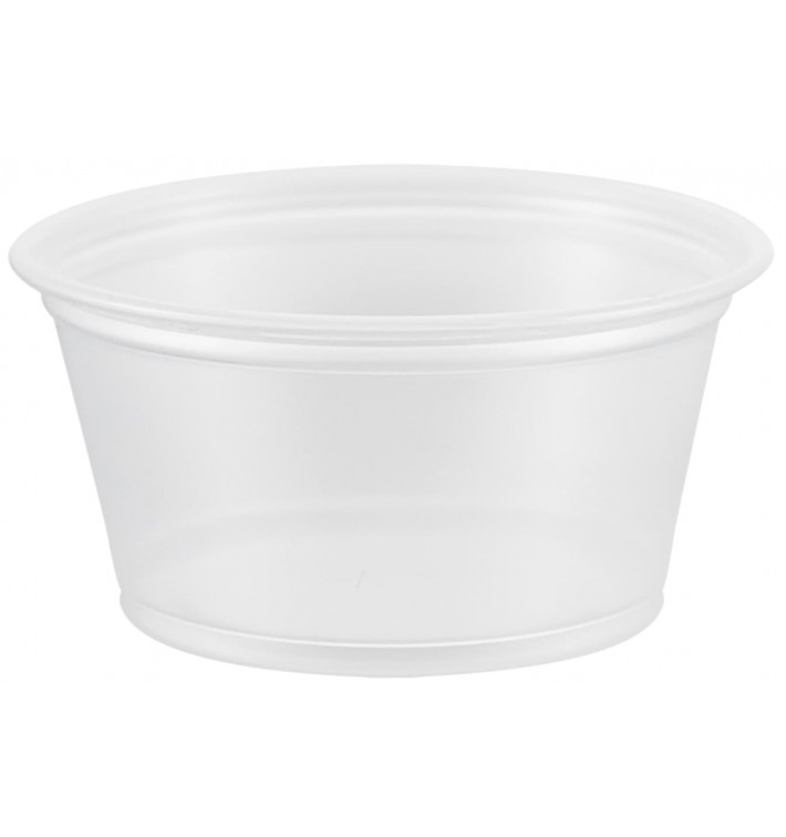 Tarrina de Plastico PP para Salsas 60ml Ø66mm (125 Uds)
