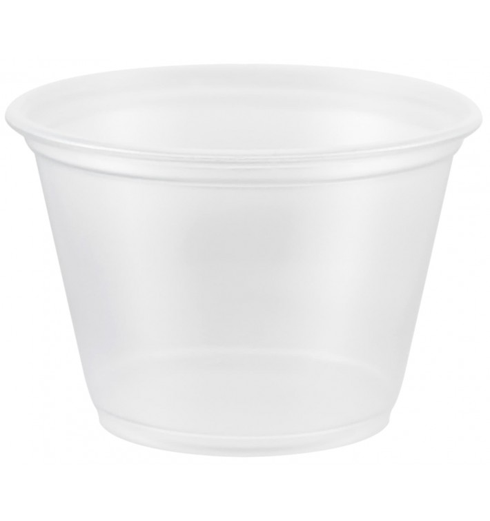 Tarrina de Plastico PP para Salsas 75ml Ø66mm (125 Uds)