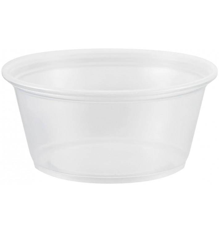 Tarrina de Plastico PP para Salsas 100ml Ø73mm (2500 Uds)