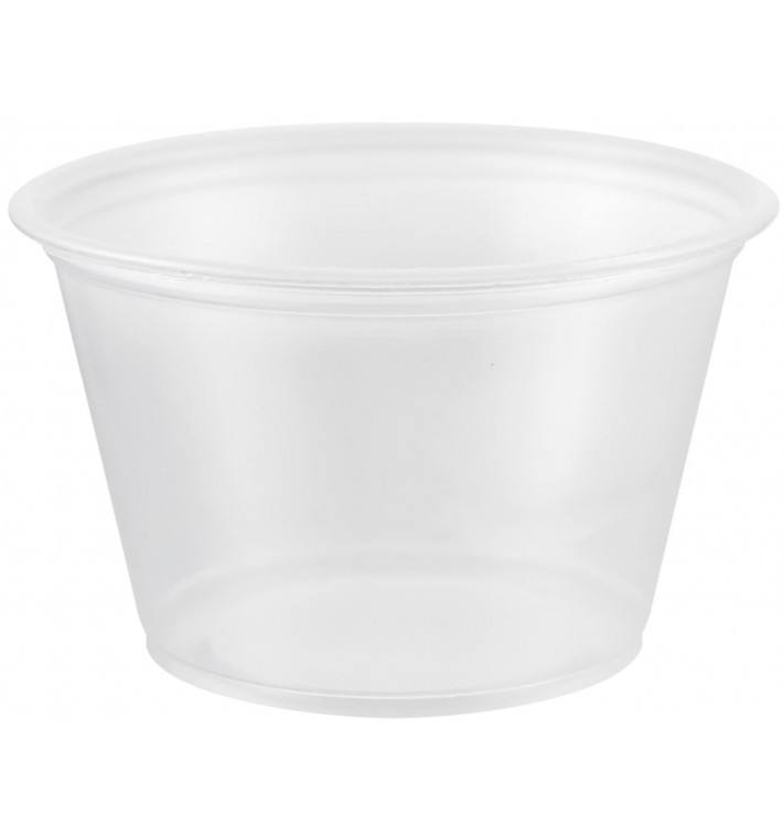 Tarrina de Plastico PP para Salsas 120ml Ø73mm (125 Uds)
