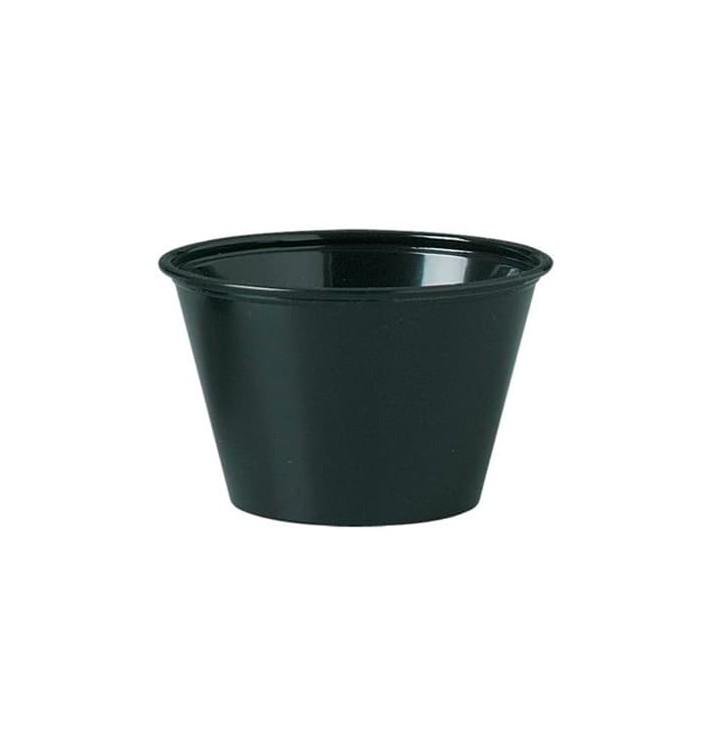 Tarrina para Salsas PP Negro 120ml Ø7,3cm (125 Uds)