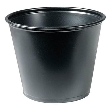 Tarrina de Plastico PP para Salsas Negra 165ml Ø73mm (125 Uds)