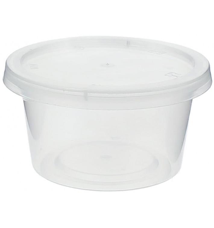 Tarrina Plastico Salsas con Tapa 120ml (50 Uds)