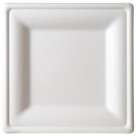 Plato Cuadrado Caña de Azucar Blanco 260x260mm (10 Uds)