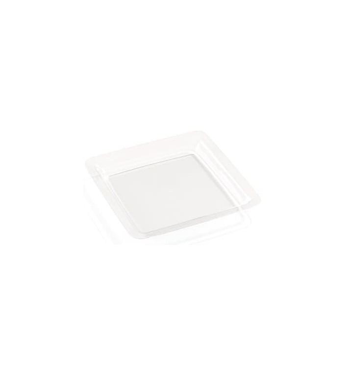 Plato Plastico Extra Rigido Transparente 22,5x22,5cm (72 Uds)