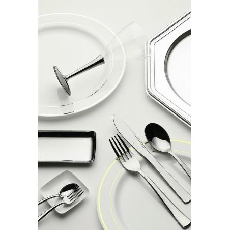 Tenedor de Plastico Metalizado 190mm (10 Uds)