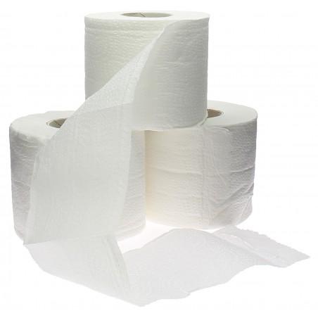 Papel Higienico Rollo Doméstico Laminado Blanco 30m (6 Uds)
