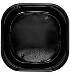 Plato de Plastico PS Cuadrado Negro 200x200mm (30 Uds)